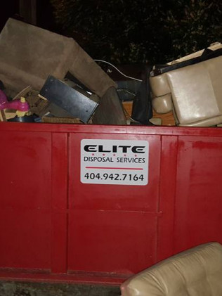 Fully loaded dumpster in White, GA